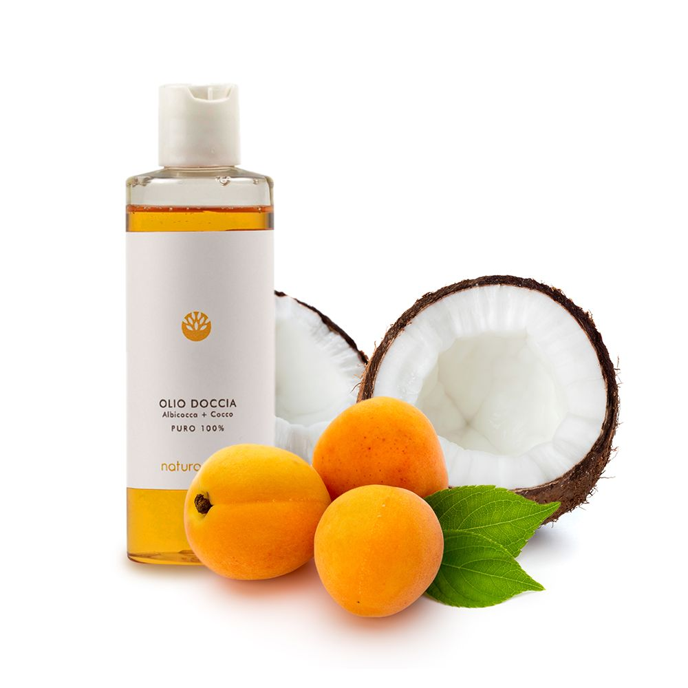 Olio doccia Albicocca e Cocco | Naturamore: cosmetici naturali