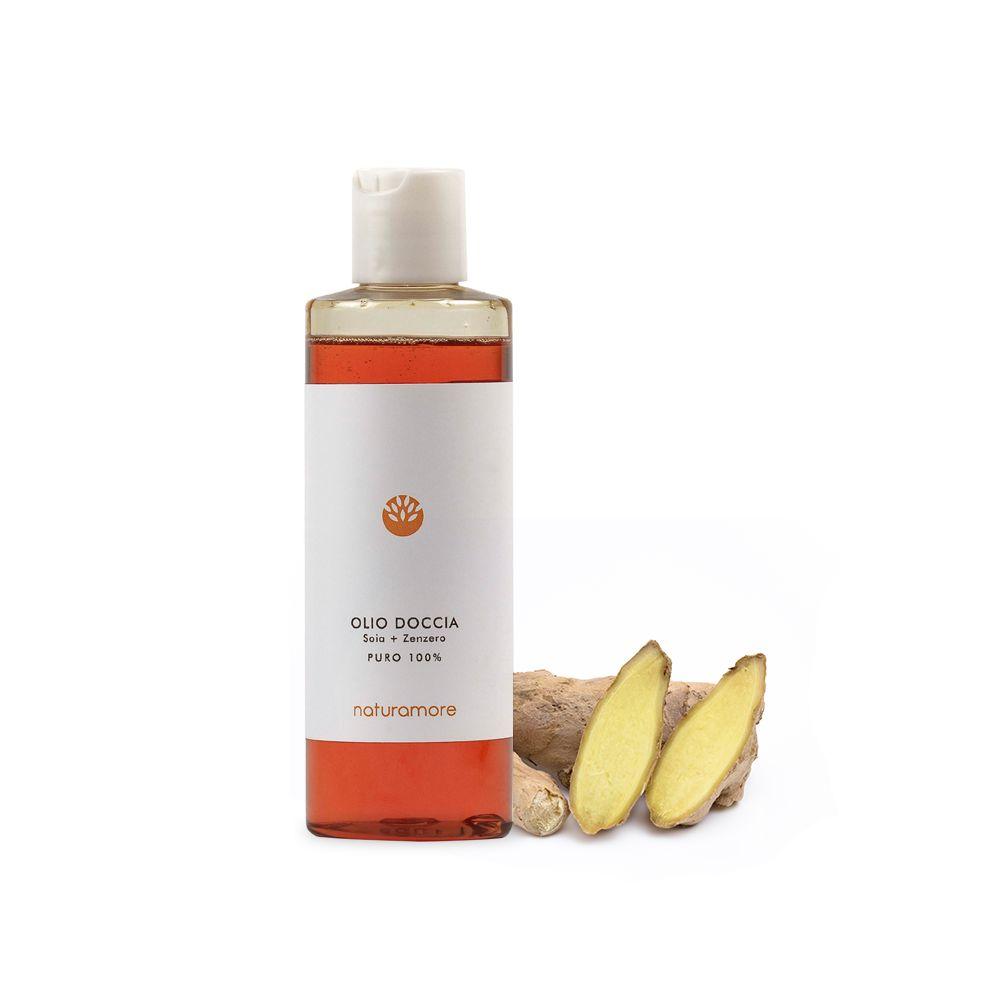 Olio doccia Soia e Zenzero | Naturamore: cosmetici naturali