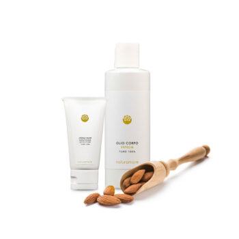 Olio corpo + crema mani | Naturamore: Cosmetici Naturali Professionali