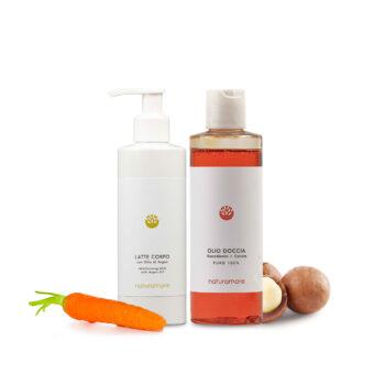 Olio doccia + latte corpo | Naturamore: Cosmetici Naturali Professionali